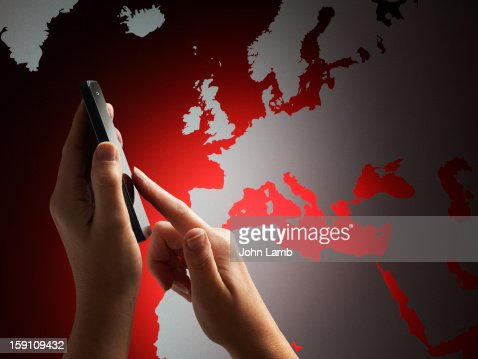 Europe In-Touch : Stock Photo