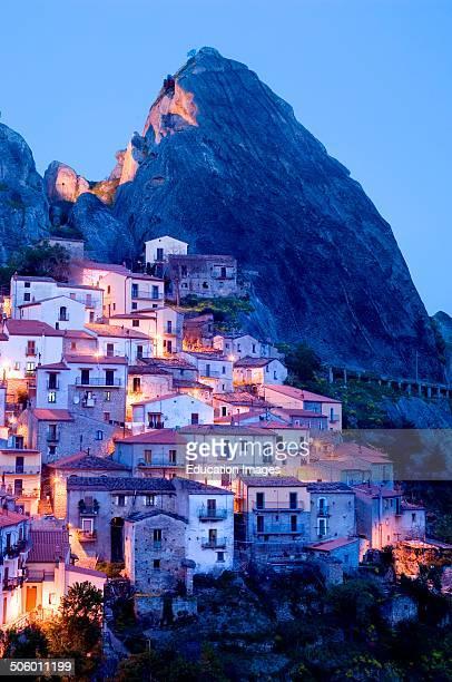 Europe Italy Basilicata Piccole Dolomiti Lucane Castelmezzano