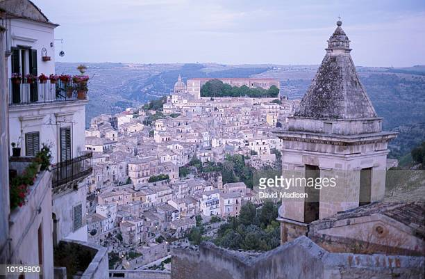 Europe, Italy, Sicily, the old town of Ragusa Ibla (elevated view)