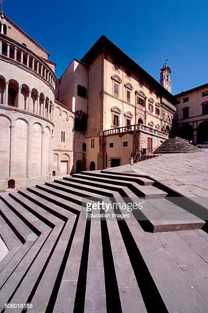 Europe Italy Tuscany Arezzo Piazza Grande Palazzo Della Fraternita Dei Laici