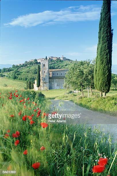 Europe, Italy, Tuscany, Montalcino, Abbazia di Sant'Antimo Church