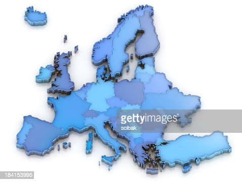 Europe map isolated