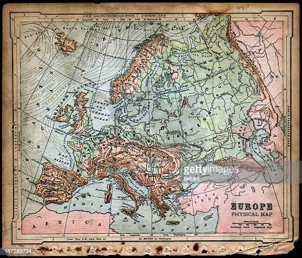Europa Mappa fisica