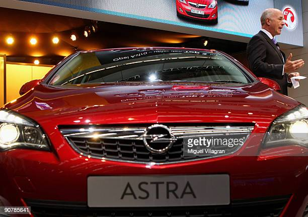 Europe President CarlPeter Forster presents the new Opel Astra during the international motor show IAA on September 15 2009 in Frankfurt am Main...