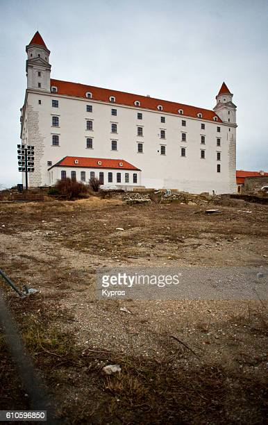 Europe, Slovakia, Bratislava, View Of Castle