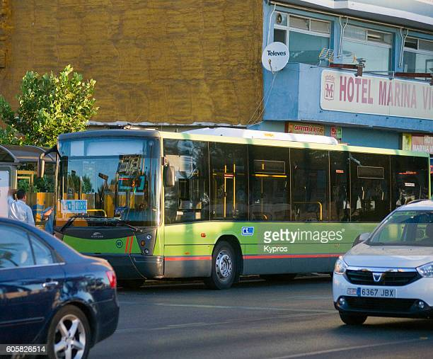 Europe, Spain, Algeciras Area, View Of Bus
