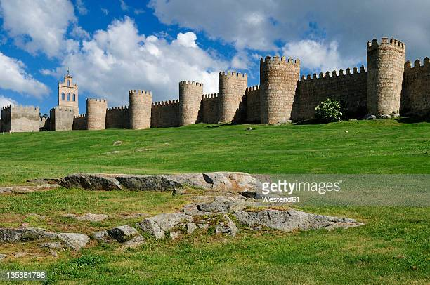 Europe, Spain, Castile and Leon, Avila, View of medieval city wall