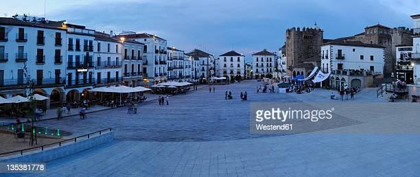 Europe, Spain, Extremadura, Caceres, View of Plaza Mayor