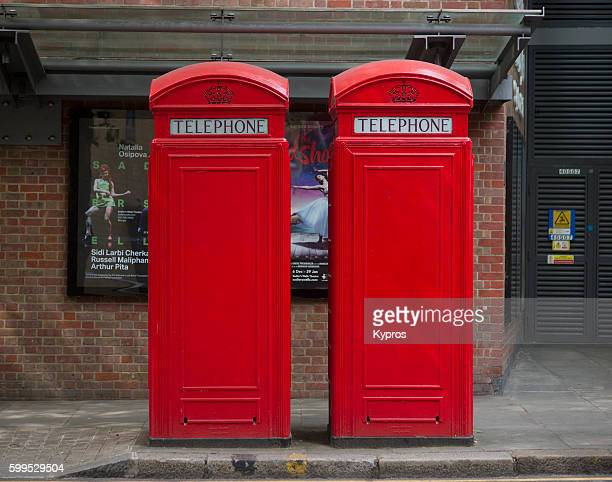 Europe, Uk, England, London, View Of Phonebox Or Coinbox Public Pay Phone