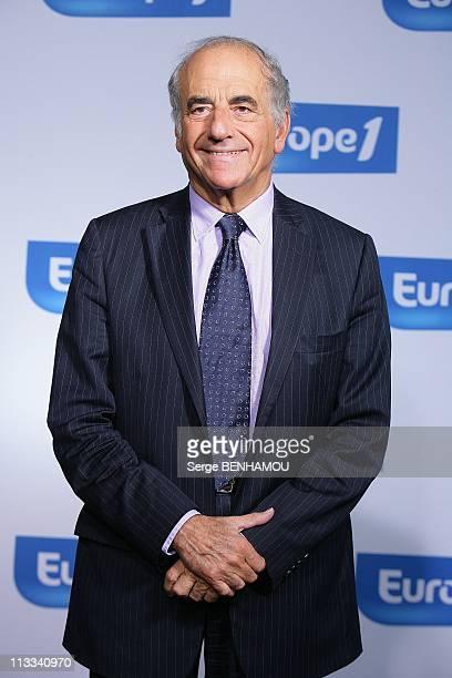Europe1 Press Conference In Paris France On September 01 2008 JeanPierre Elkabbach