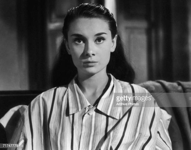 European actress Audrey Hepburn stars as Princess Ann in the romantic comedy 'Roman Holiday' 1953
