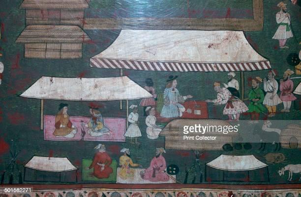 European and Indian merchants in Delhi 17th century