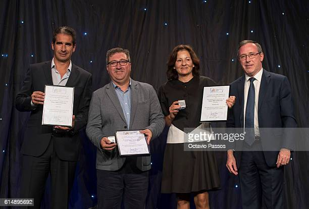 European Athletics VicePresident Jean Gracia presents the Portuguese national winners of the European Athletics Coaching Awards during the European...