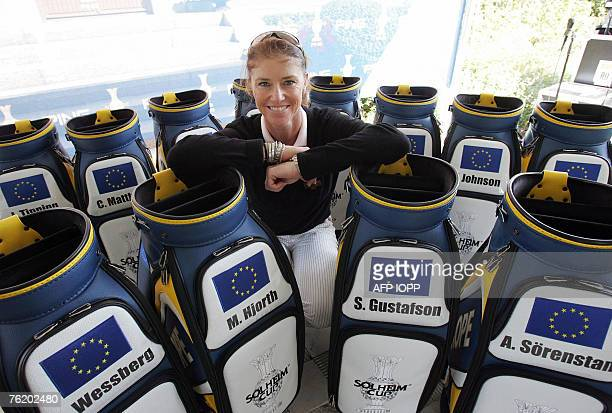 European Captain Helen Alfredsson of Sweden announces 21 August 2007 her team members for the Solheim Cup 2007 against the United States at Halmstad...