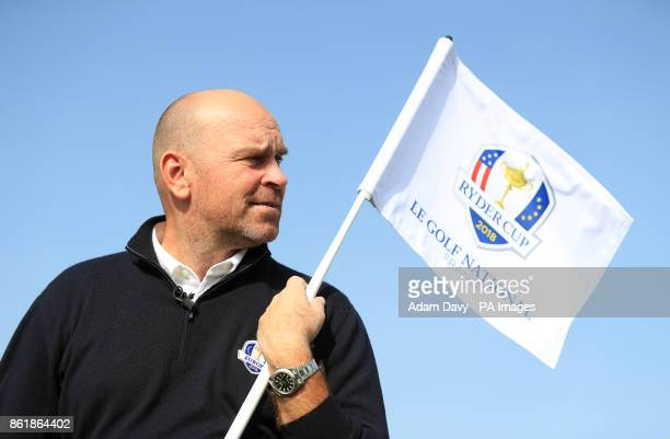 European captain Thomas Bjorn during a media event ahead of the 2018 Ryder Cup at Le Golf National Paris