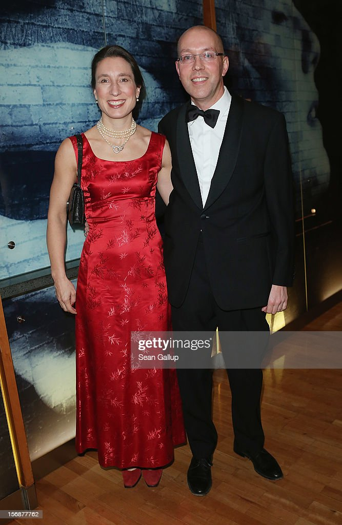 European Central Bank Executive Board member Joerg Asmussen and his wife Henriette Peucker attend the 2012 Bundespresseball (Federal Press Ball) at the Intercontinental Hotel on November 23, 2012 in Berlin, Germany.