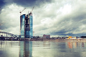 'ECB, European Central Bank Frankfurt - construction site'