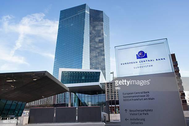 EZB, die Europäische Zentralbank in Frankfurt, Deutschland