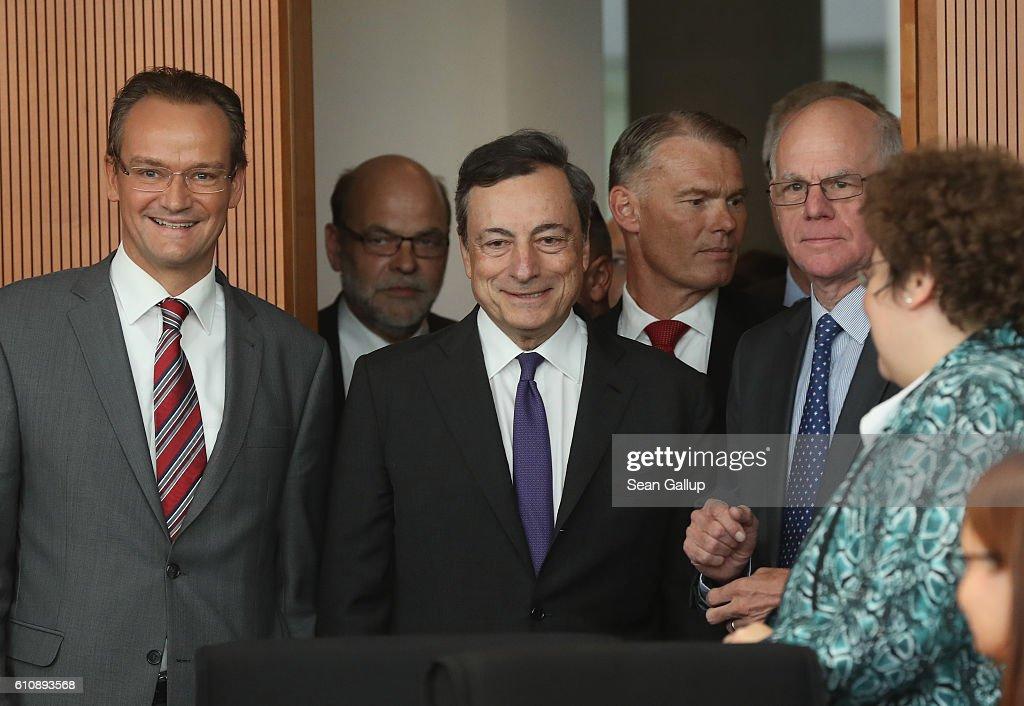 Mario Draghi Visits The Bundestag