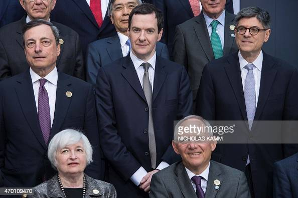 European Central Bank President Mario Draghi British Chancellor of the Exchequer George Osborne US Treasury Secretary Jacob Lew US Federal Reserve...