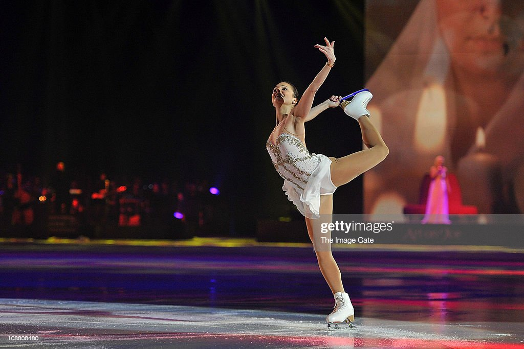 European champion figure skater <a gi-track='captionPersonalityLinkClicked' href=/galleries/search?phrase=Sarah+Meier&family=editorial&specificpeople=728886 ng-click='$event.stopPropagation()'>Sarah Meier</a> performs during Art On Ice at Hallenstadion on February 3, 2011 in Zurich, Switzerland.