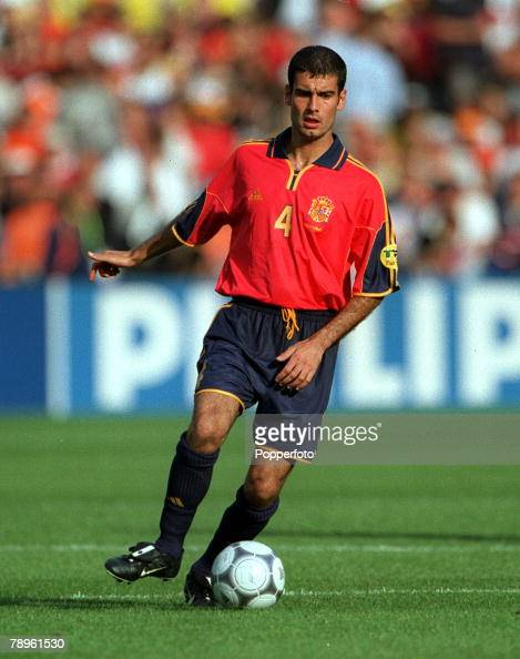 European Championship Feijnoird Stadium Rotterdam Holland Spain v Norway 13th June Spain's Josep Guardiola in action
