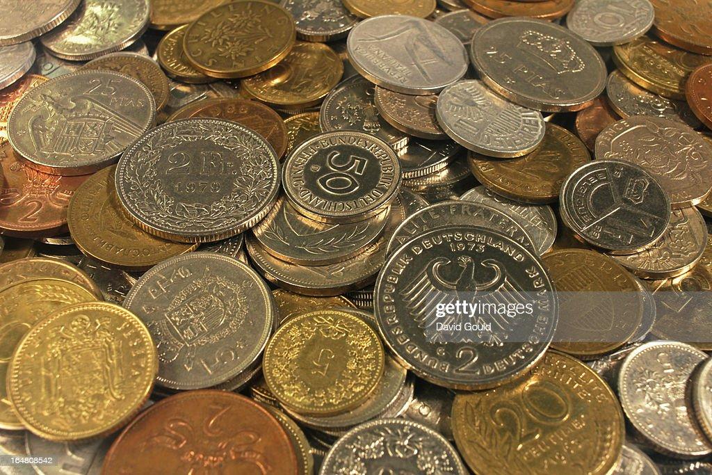 European coins : Stock Photo