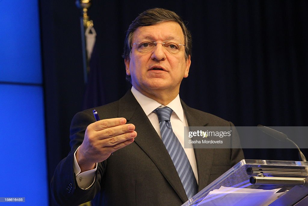 European Commision President <a gi-track='captionPersonalityLinkClicked' href=/galleries/search?phrase=Jose+Manuel+Barroso&family=editorial&specificpeople=551196 ng-click='$event.stopPropagation()'>Jose Manuel Barroso</a> attends the Russia-EU Summit on December 21, 2012 in Brussels, Belgium.