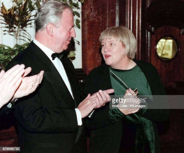 European Commission President Jacques Santer and Secretary of State for Northern Ireland Mo Mowlam attend a banquet in Belfast City Hall tonight...