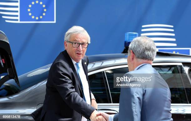 European Commission President JeanClaude Juncker arrives at the Europa building to attend the European Union leaders summit in Brussels Belgium on...