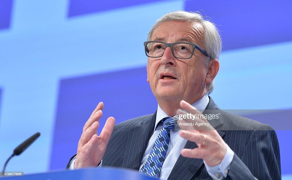 European Commission President JeanClaude Juncker gives a press conference on Greece at the EU headquarters in Brussels on June 29 2015