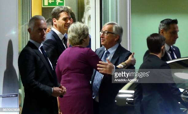 European Commission President JeanClaude Juncker sends off British Prime Minister Theresa May and British Secretary of State for Exiting the European...