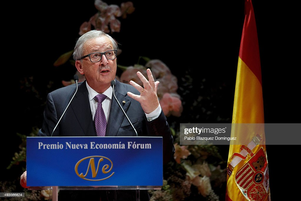 Jean-Claude Juncker Receives Nueva Economia Forum Award in Madrid