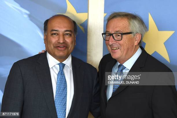 European Commission President JeanClaude Juncker welcomes European Bank for Reconstruction and Development President Suma Chakrabarti at the European...