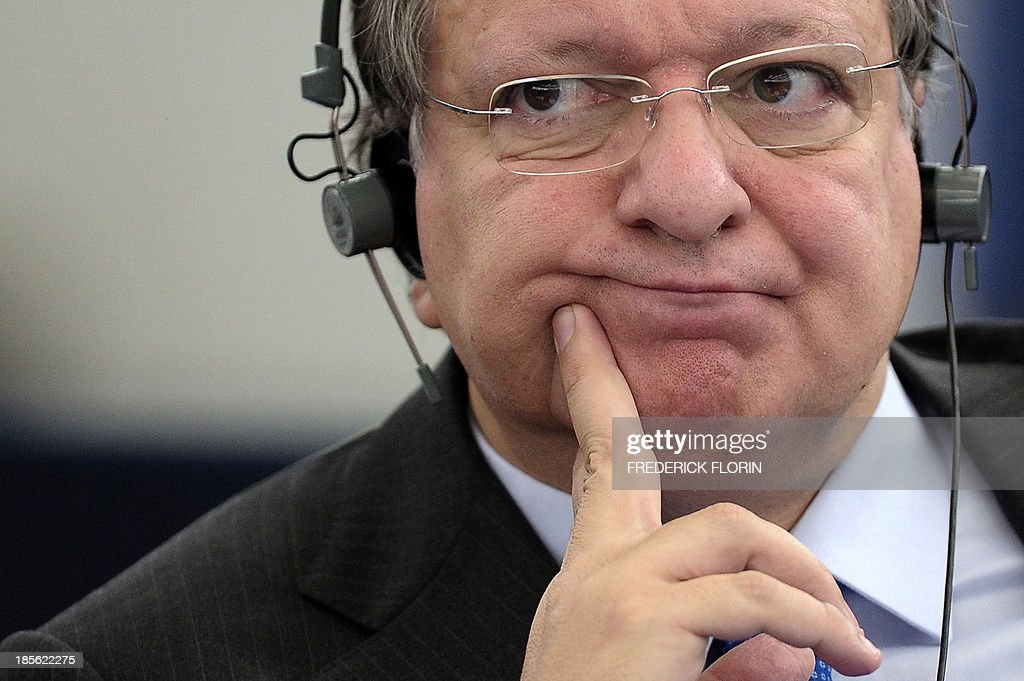 European Commission President Jose Manuel Barroso attends a debate on October 23, 2013, in preparation of the next European Council meeting at the European Parliament in Strasbourg, eastern France.