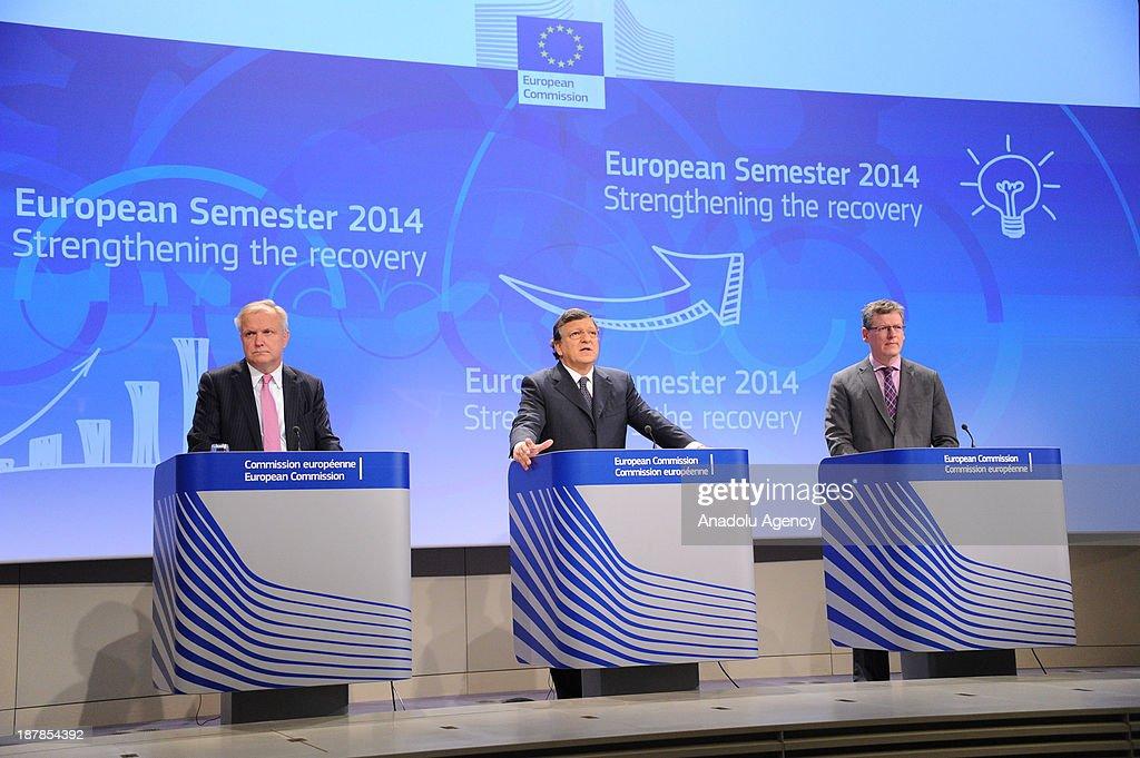 European Commission President Jose Manuel Barroso European Commissioner for Economic and Monetary Affairs Olli Rehn European Commissioner for...