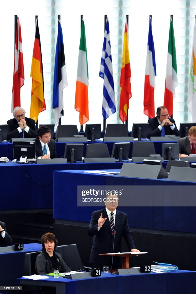 European Commission President Jose Manuel Barroso gives a speech during the presentation of the newly elected team of EU commissioners on February 9...