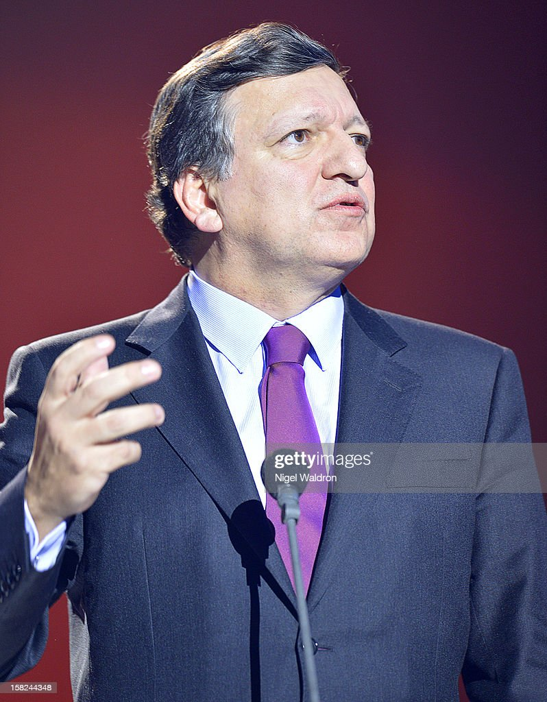 European Commission President Jose Manuel Barroso of Portugal at the Nobel Peace Prize Concert 2012 at Oslo Spektrum on December 11, 2012 in Oslo, Norway.