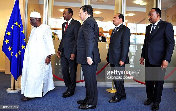European Commission President Jose Manuel Barroso welcomes President of Mauritania Mohamed Ould Abdel Aziz President of Mali Ibrahim Boubacar Keita...
