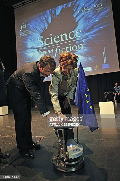 European Commission VicePresident for the Digital Agenda Neelie Kroes and Hungarian Minister of State for Economic Strategy of Ministry for National...
