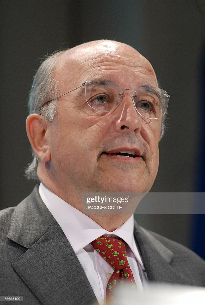 European Commissioner for Economic and Monetary Affairs Joaquin Almunia talks during a press conference concerning the Interim Forecast of September...