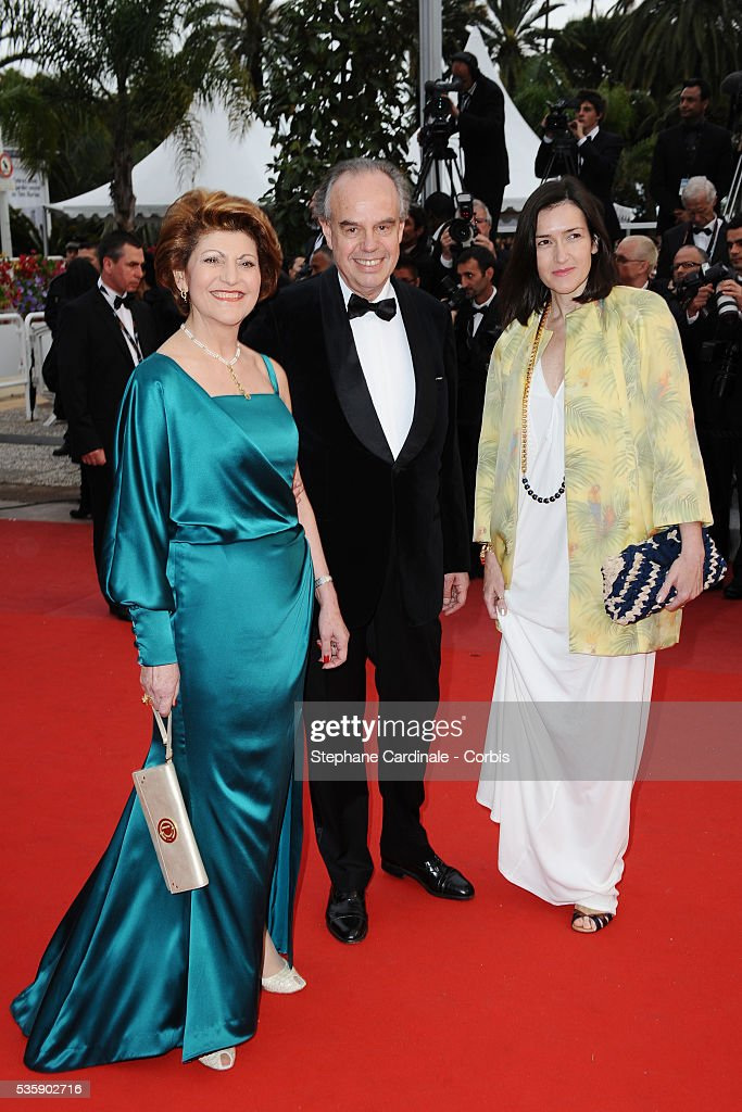 European Commissioner for Education, Culture, Multilingualism and Youth Androulla Vassiliou, French Minister of Culture and Communication Frederic Mitterrand and Culture Minister of Spain Angeles Gonzales Sinde at the Premiere for 'You will meet a tall dark stranger' during the 63rd Cannes International Film Festival.