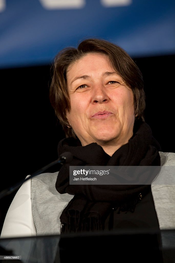 European Commissioner for Transport Violeta Bulc looks on as workers inaugurate the tunnel construction of the Brenner Base railway tunnel on March...