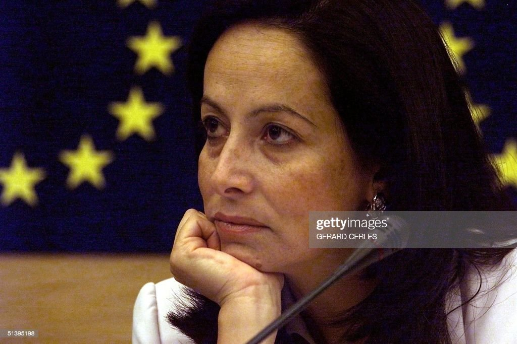 European Commissioner in charge of labor and social affairs Anna Diamantopoulou attends a press conference 06 September 2000 at the European...