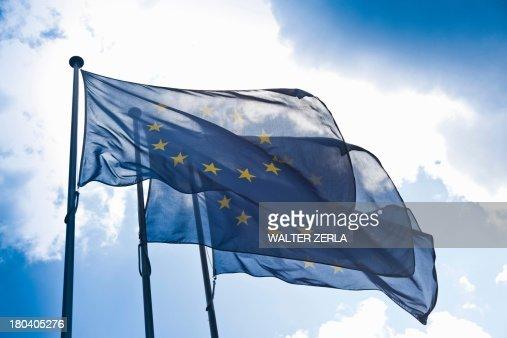 European community flags