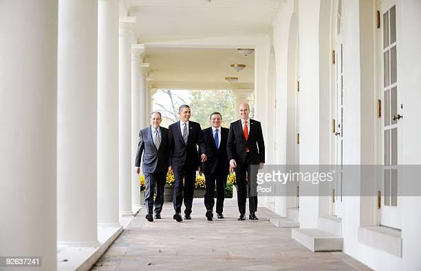 European Council High Representative Javier Solana President Barack Obama President of the European Commission Jose Manuel Barroso and Prime Minister...