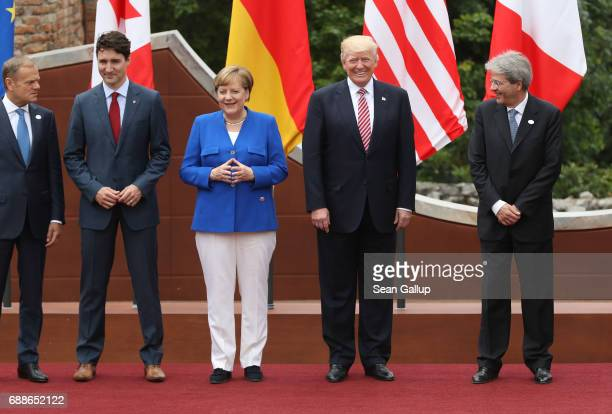 European Council President Donald Tusk Canadian Prime Minister Justin Trudeau German Chancellor Angela Merkel US President Donald Trump and Italian...