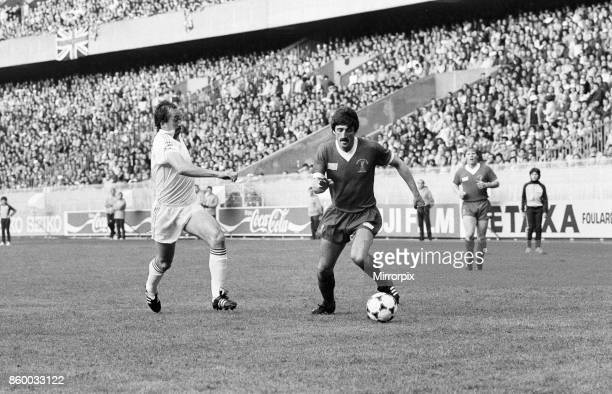 European Cup Final at the Parc Des Princes in Paris France Liverpool 1 v Real Madrid 0 David Johnson of Liverpool on the ball 27th May 1981
