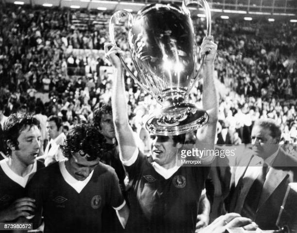 European Cup Final held at the Stadio Olimpico in Rome Italy Liverpool 3 v Borussia Moenchengladbach 1 Liverpool's Emlyn Hughes with the European Cup...