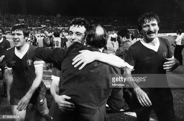 European Cup Final held at the Stadio Olimpico in Rome Italy Liverpool 3 v Borussia Moenchengladbach 1 A warm embrace from manager Bob Paisley for...